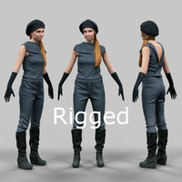 3d scanned female character rigged