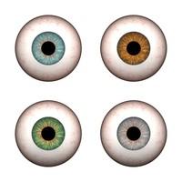 3d model of eyes blue green