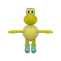 3d koopa character animation model