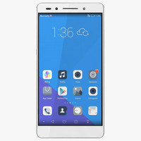 3d model huawei honor 7 silver