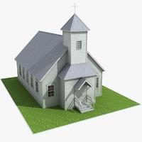 3d catholic church model