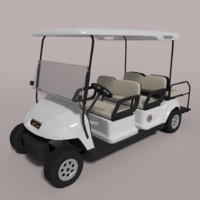 large golf cart 3d model