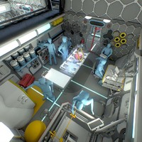 max sci-fi space station interior