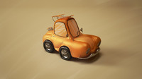 cartoon car 3d 3ds