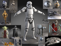 3d ultimate star wars model