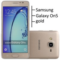 3d samsung galaxy on5 gold