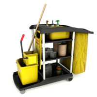 Janitor Cart Low Poly