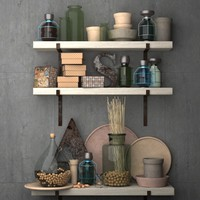 Decorative set for the kitchen-Vintage kitchen accessories