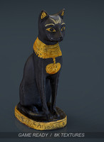 egyptian cat 3d model