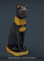 egyptian cat 3d model