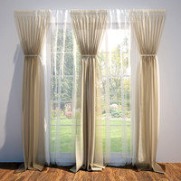 3d max curtains blinds