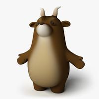 3d toon goat model