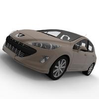 peugeot 308 2008 3d model