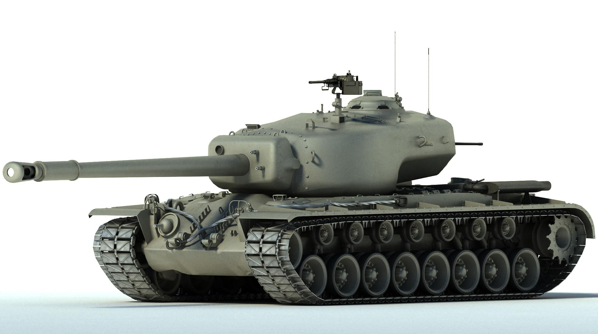 t34 heavy tank wwii 3d max