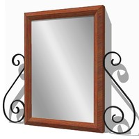 light wall mounted mirror 3d 3ds