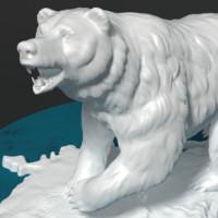 statuette bear 3d model