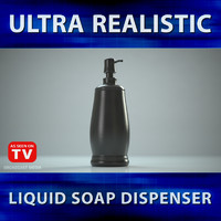 hand soap dispenser 3d max