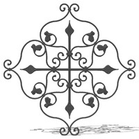 3d wrought iron elements