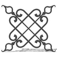 3d wrought iron elements model