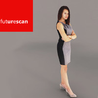 woman businesswoman business 3d max