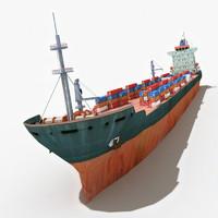c4d cargo ship