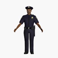 police policeman 3d max