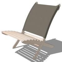 3d model outdoor folding chair