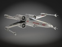 3d star wars x-wing model