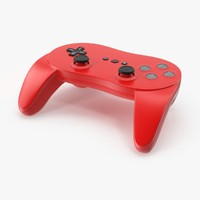 3d red video controller model