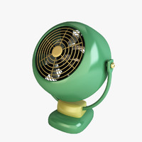 3d model of vintage fan vornado sr