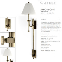 3d model currey company wall light
