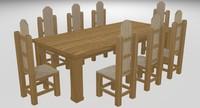 3d table rustic model