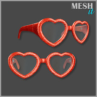 heart glasses 3d model