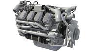 euro 6 diesel engine 3d model