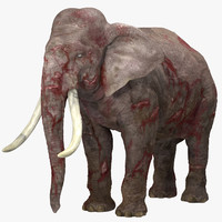 c4d wounded elephant