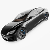 tesla s coupe 3d max