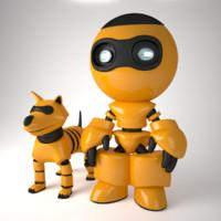 3d robot dog