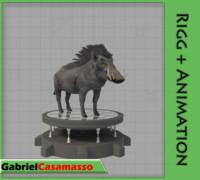 warthog phacochoerus africanus 3d model