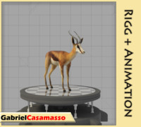 3d model antelope gazelle