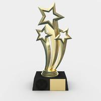 3d model of award trophy