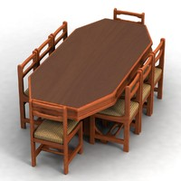 3d model of dinning table