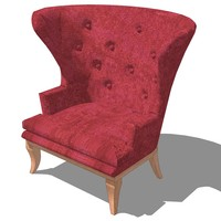 3d model of master chair design