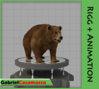 grizzly bear 3d x