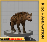 3d hyena animation