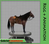 3d horse equipment model
