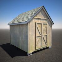 3d model shed wood