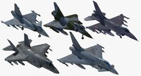 nato fighter aircraft set 3d max