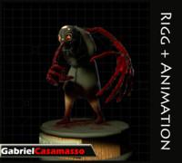 terror character 3d model