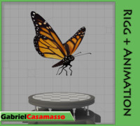 monarch butterfly 3d blend