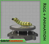 3d model monarch larva